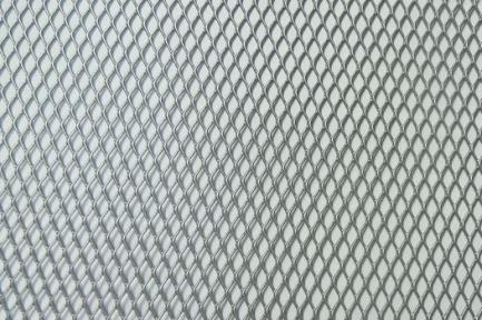 Сетка декор алюмин. ячейка 10мм х 5,5мм серебристая размер 40х100см