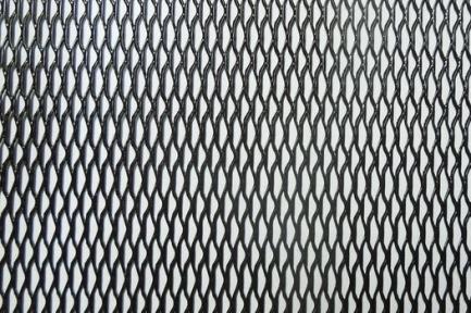 Сетка декор алюмин. ячейка 15мм х 4,5мм черная размер 40х100см