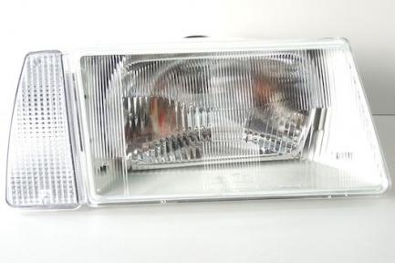 Фара для ВАЗ 2108-09 правая серый корпус, белый указатель поворота, б/л