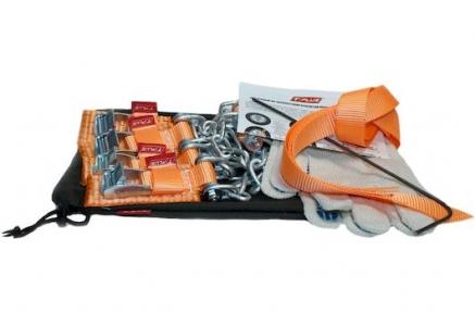 Цепь противоскольжения (браслет) 4WD R12-R15 4шт + крючок + перчатки в мешке (Такелаж+)