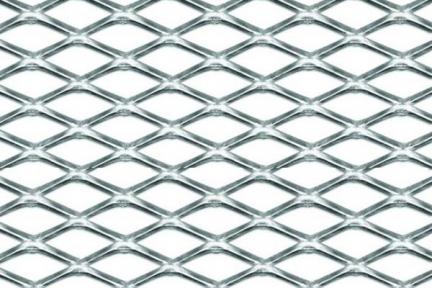Сетка декор алюмин. ячейка 20мм серебристая размер 37,5х100см