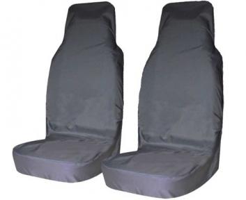 Чехлы на передние сиденья универсальные грязезащитные 2шт цвет серый оксфорд 210
