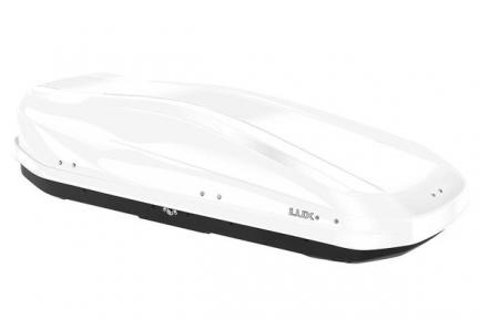 Бокс на крышу LUX IRBIS 175 450L белый глянцевый 1750х850х400 с двухсторонним открыванием